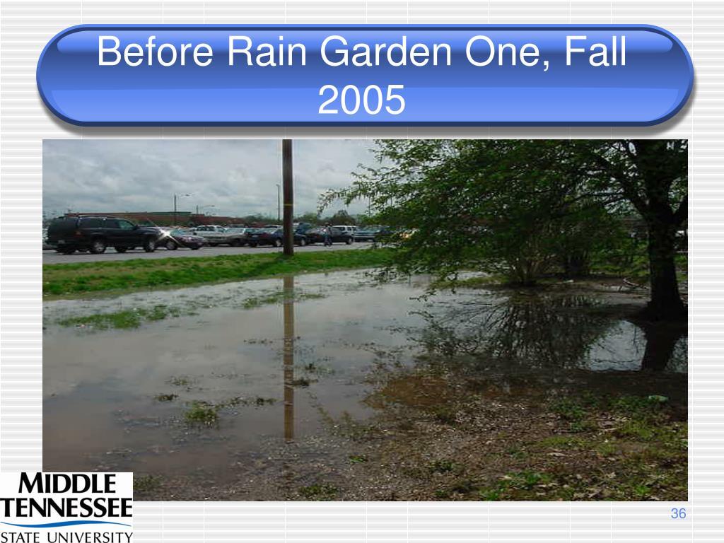 Before Rain Garden One, Fall 2005