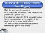 building mtsu rain garden two digging