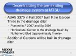 decentralizing the pre existing drainage system at mtsu