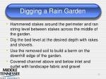 digging a rain garden