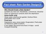 fact sheet rain garden design 2