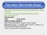 fact sheet rain garden design