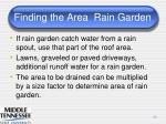 finding the area rain garden