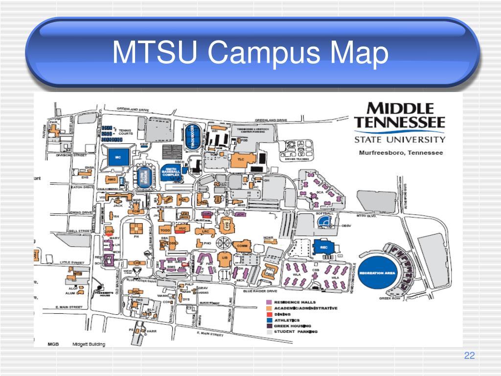 MTSU Campus Map