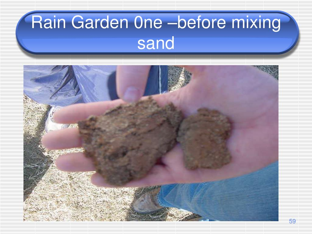 Rain Garden 0ne –before mixing sand