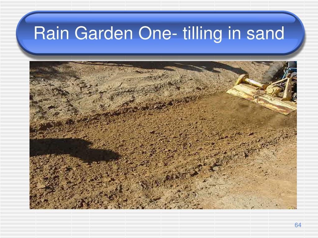 Rain Garden One- tilling in sand