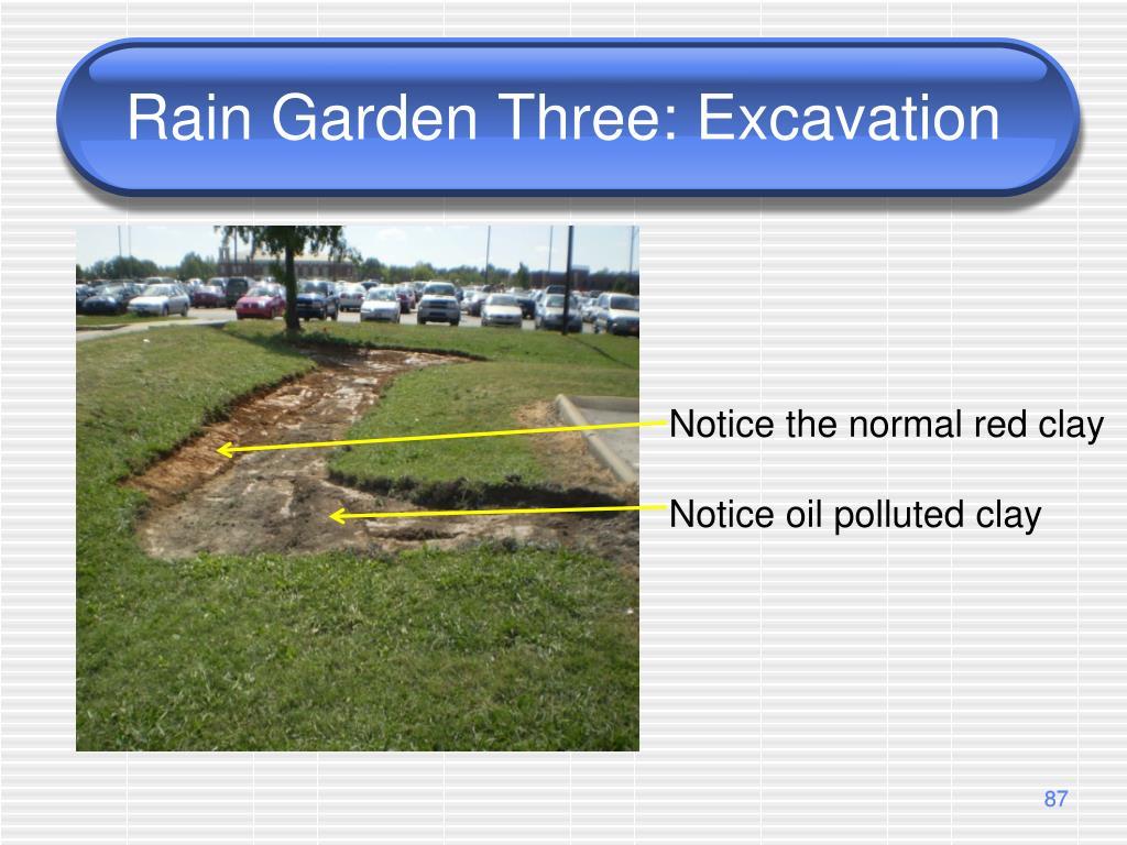 Rain Garden Three: Excavation