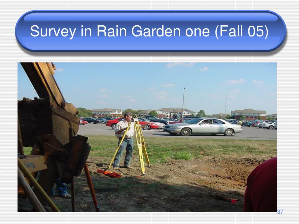 Survey in Rain Garden one (Fall 05)