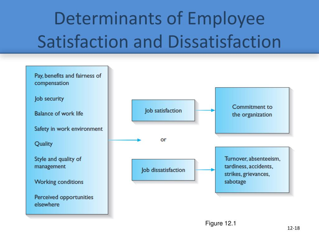 job satisfaction and dissatisfaction of teaching Job satisfaction depends on several different factors such as satisfaction with pay, promotion opportunities, fringe benefits, job security, relationship with co-workers and supervisors and communication within the organisation.