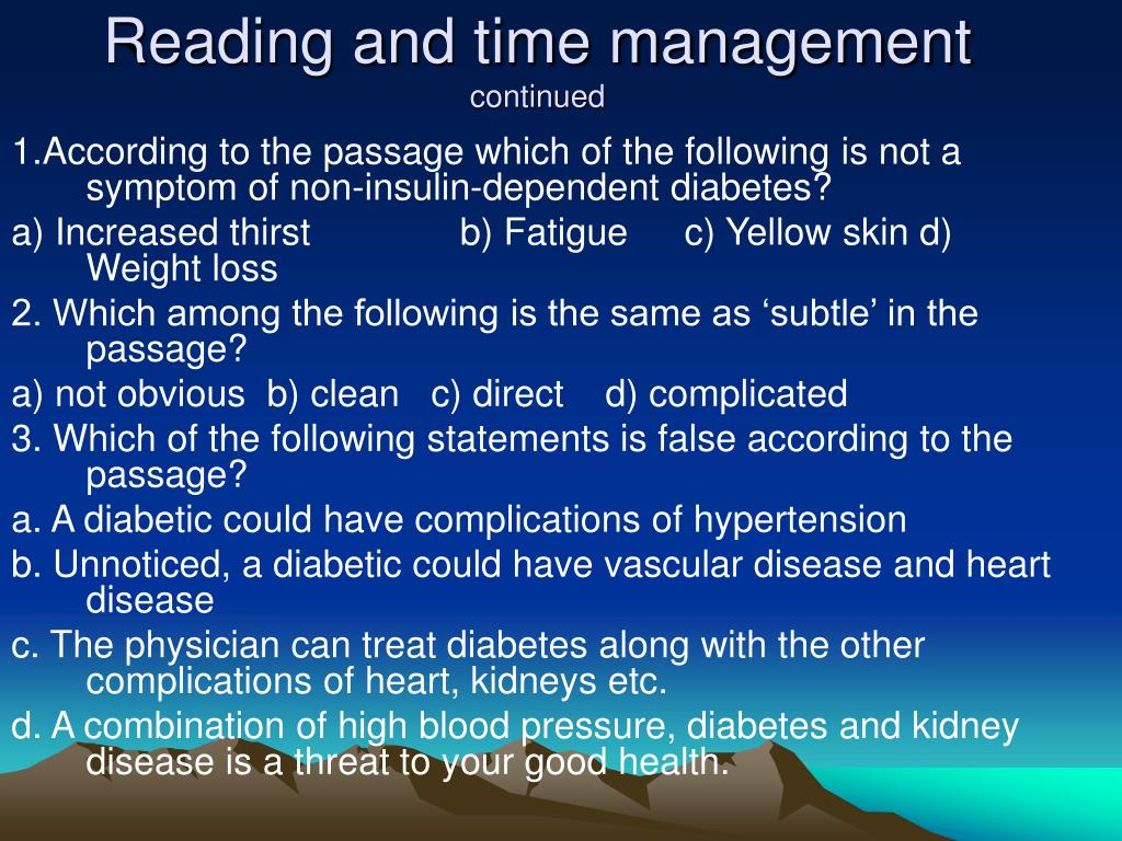 Reading and time management