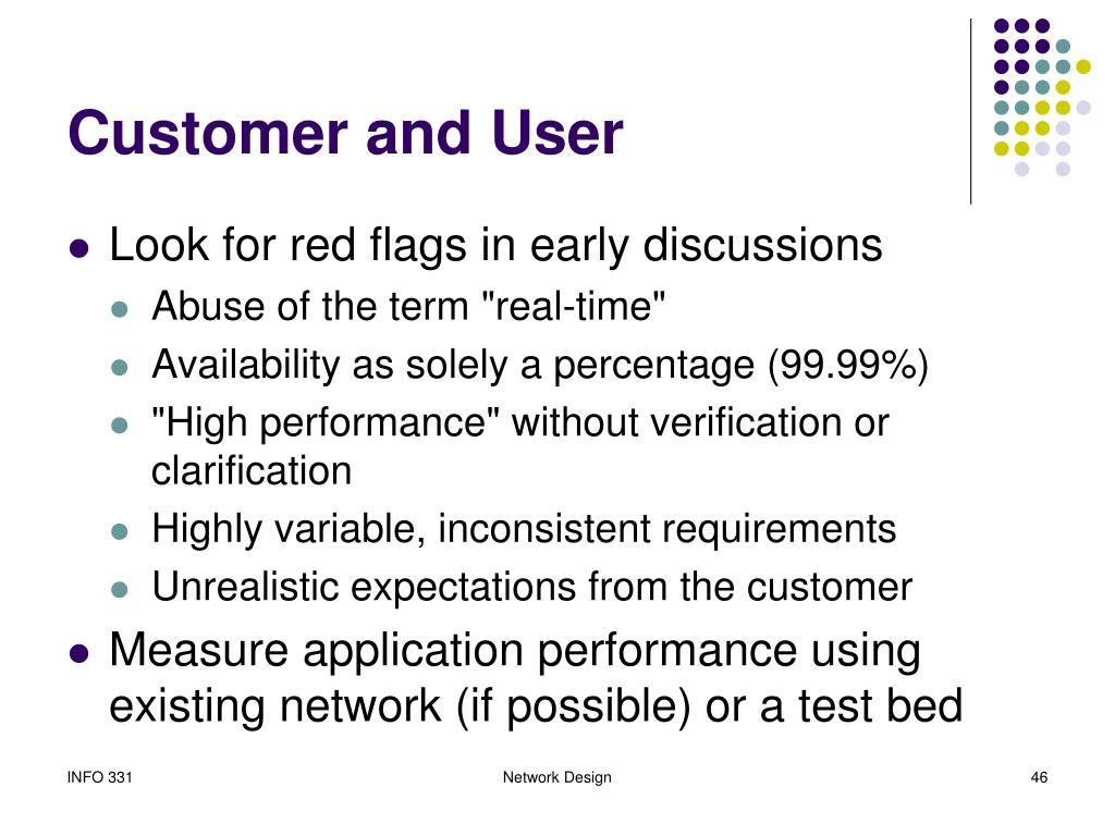 Customer and User