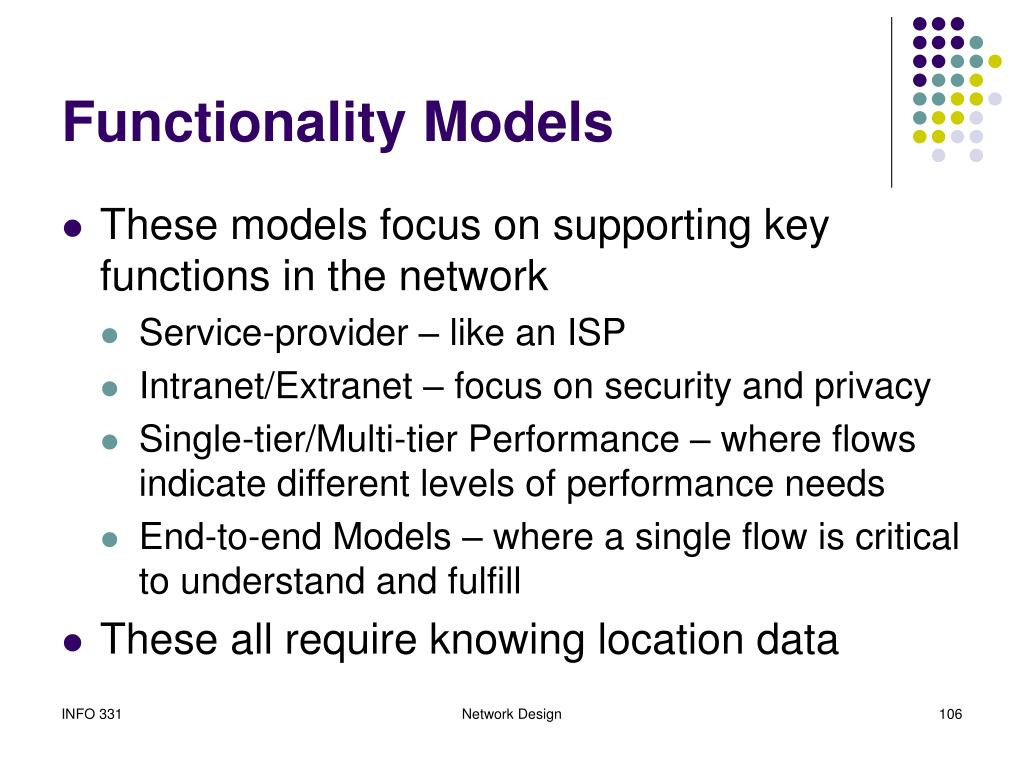 Functionality Models