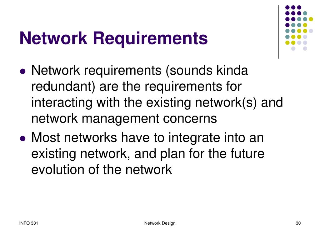 Network Requirements