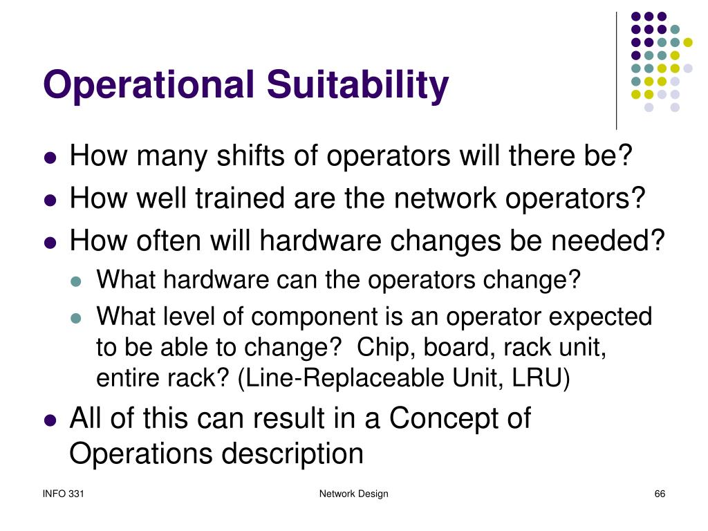 Operational Suitability