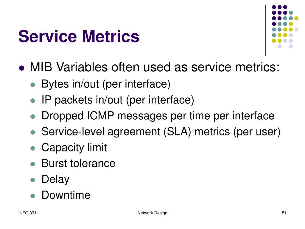 Service Metrics