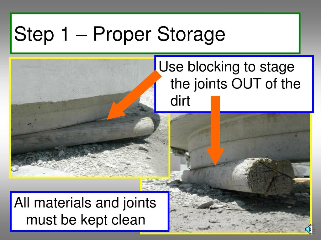 Step 1 – Proper Storage