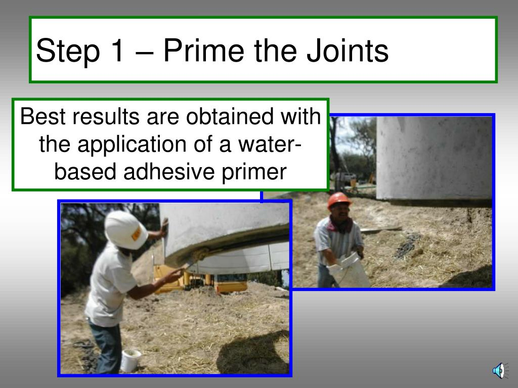 Step 1 – Prime the Joints