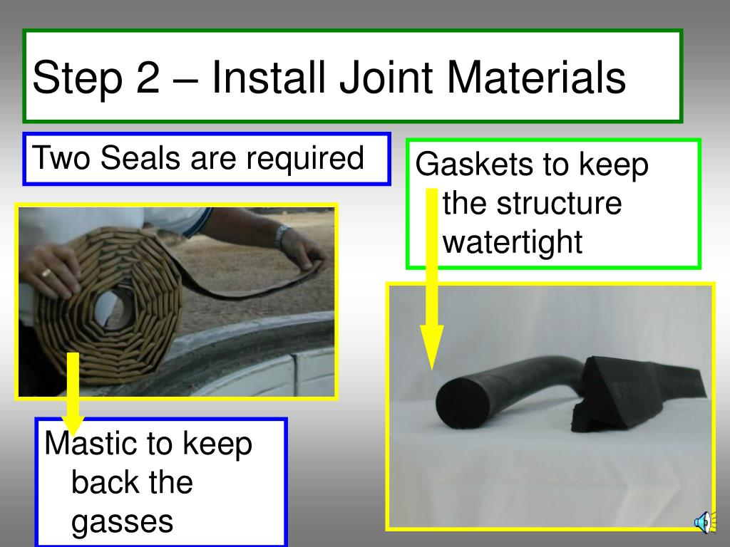 Step 2 – Install Joint Materials