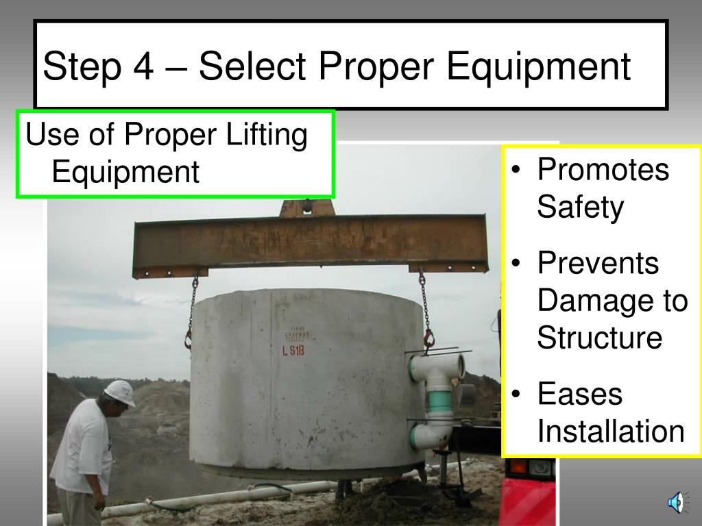 Step 4 – Select Proper Equipment