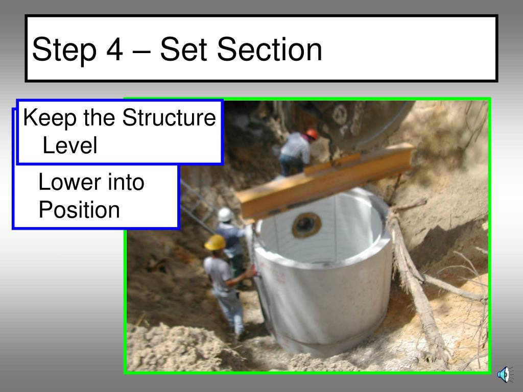 Step 4 – Set Section