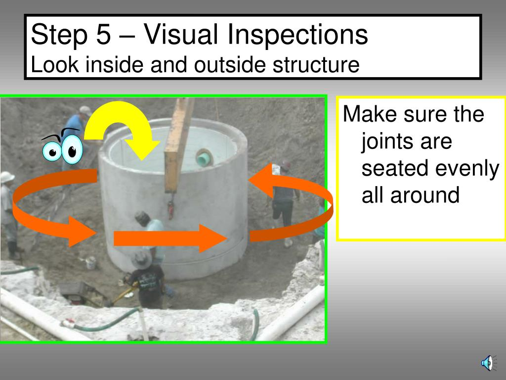 Step 5 – Visual Inspections