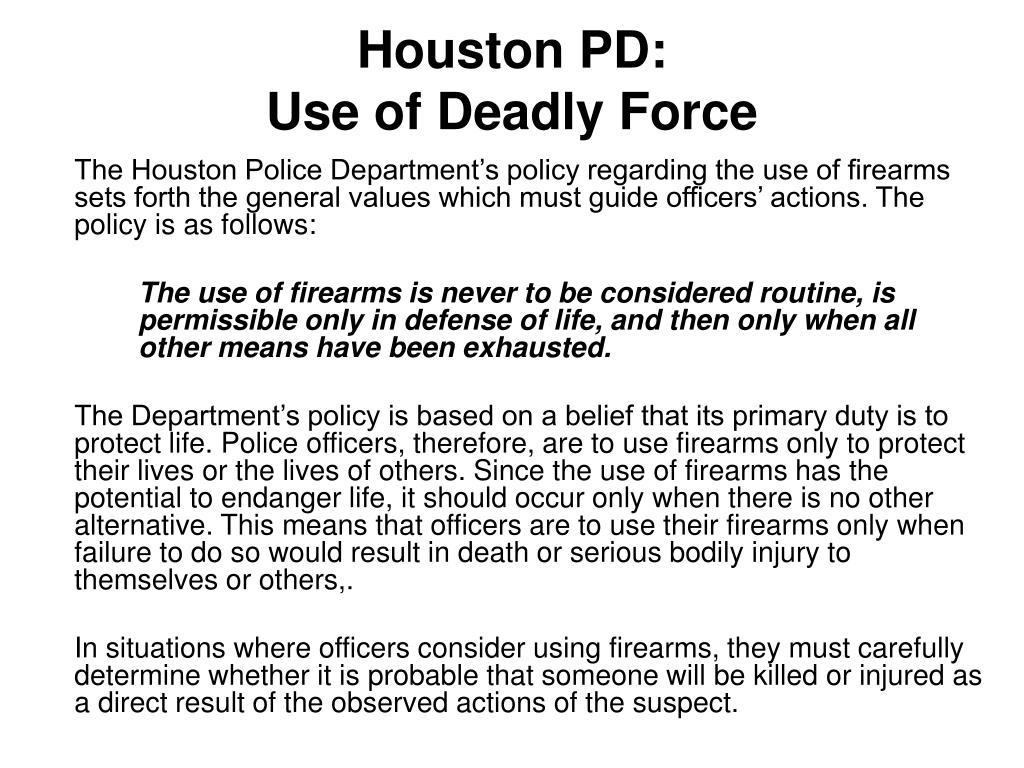 police use of deadly force