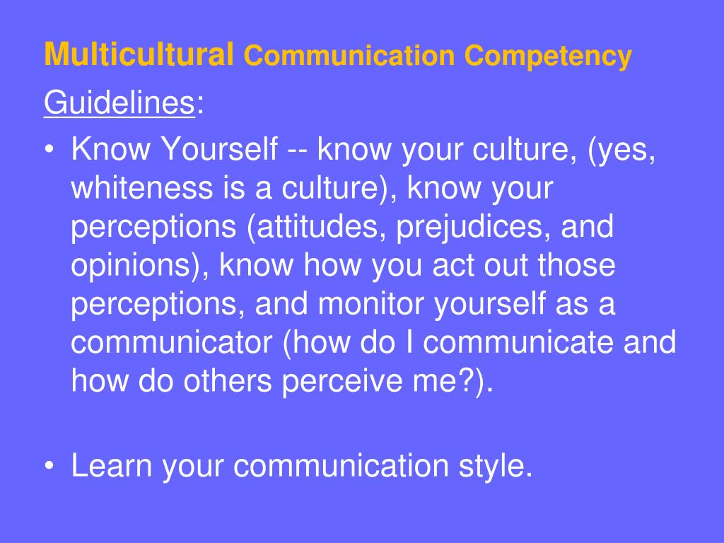 multicultural communication Unit 5 intercultural communication page 47 an important aspect of intercultural communication is an understanding of social roles and expectations within various.
