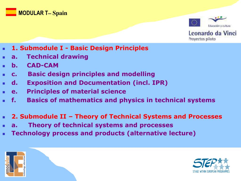 2. Submodule II – Theory of Technical Systems and Processes