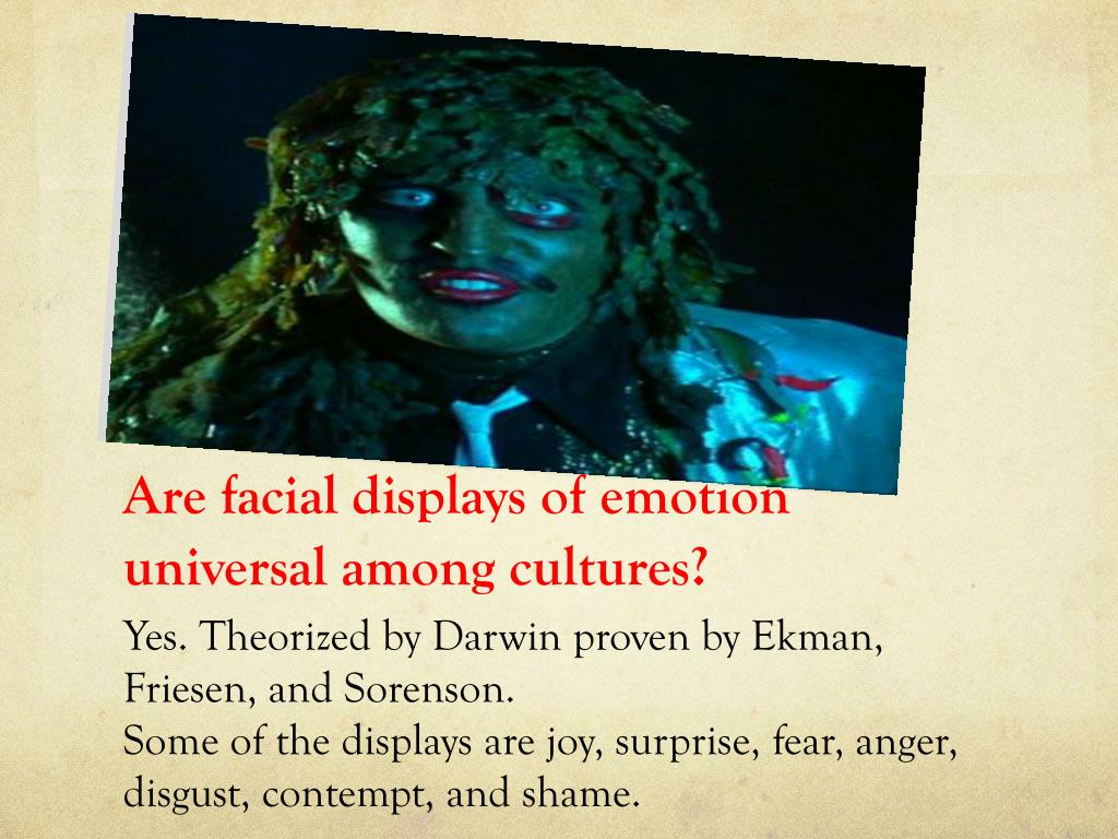 Are facial displays of emotion universal among cultures?