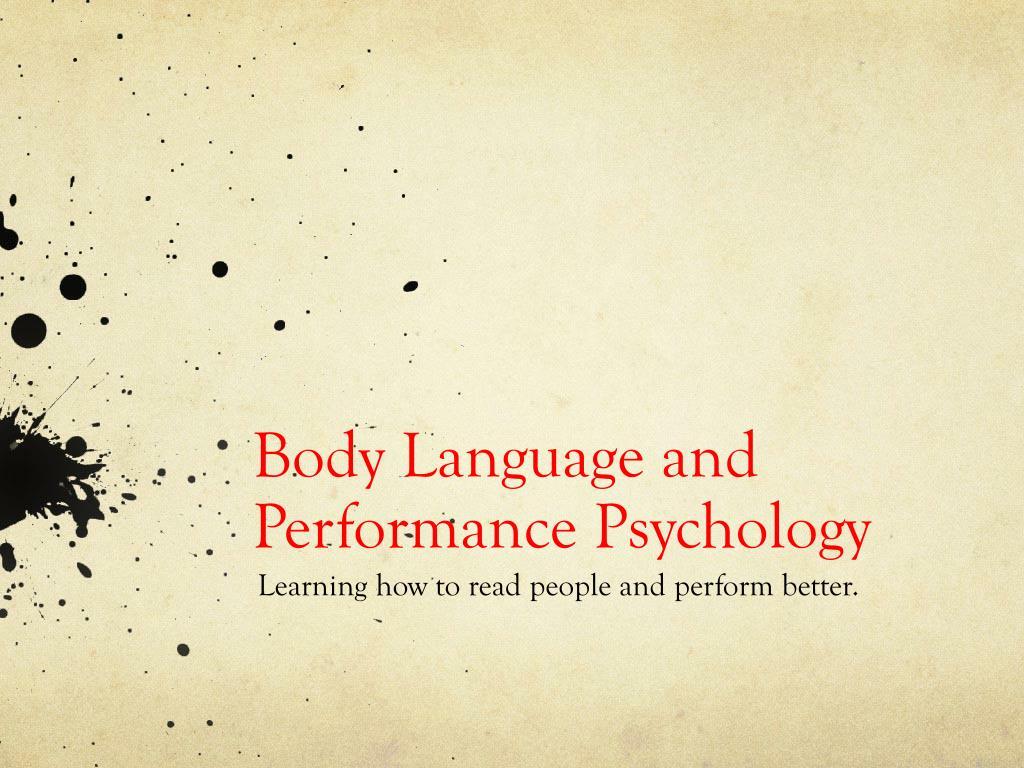 body language and performance psychology