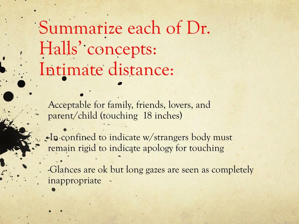 Summarize each of Dr. Halls' concepts: