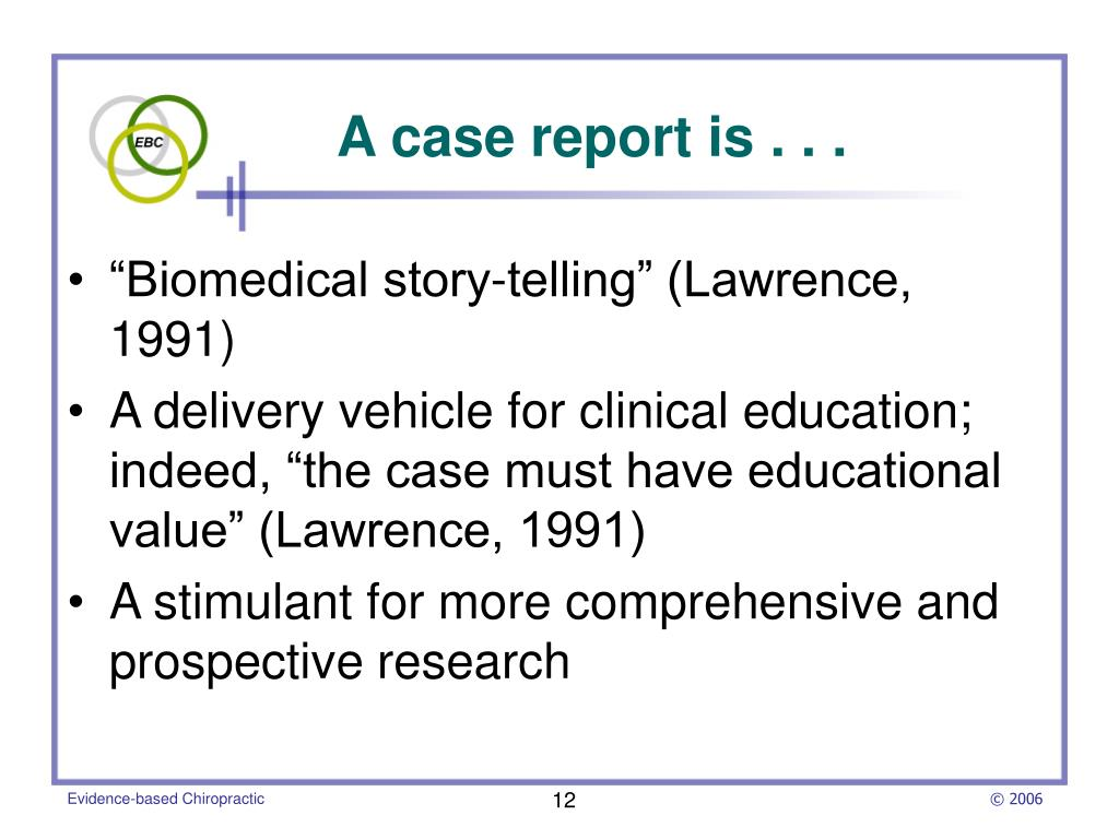 """Biomedical story-telling"" (Lawrence, 1991)"
