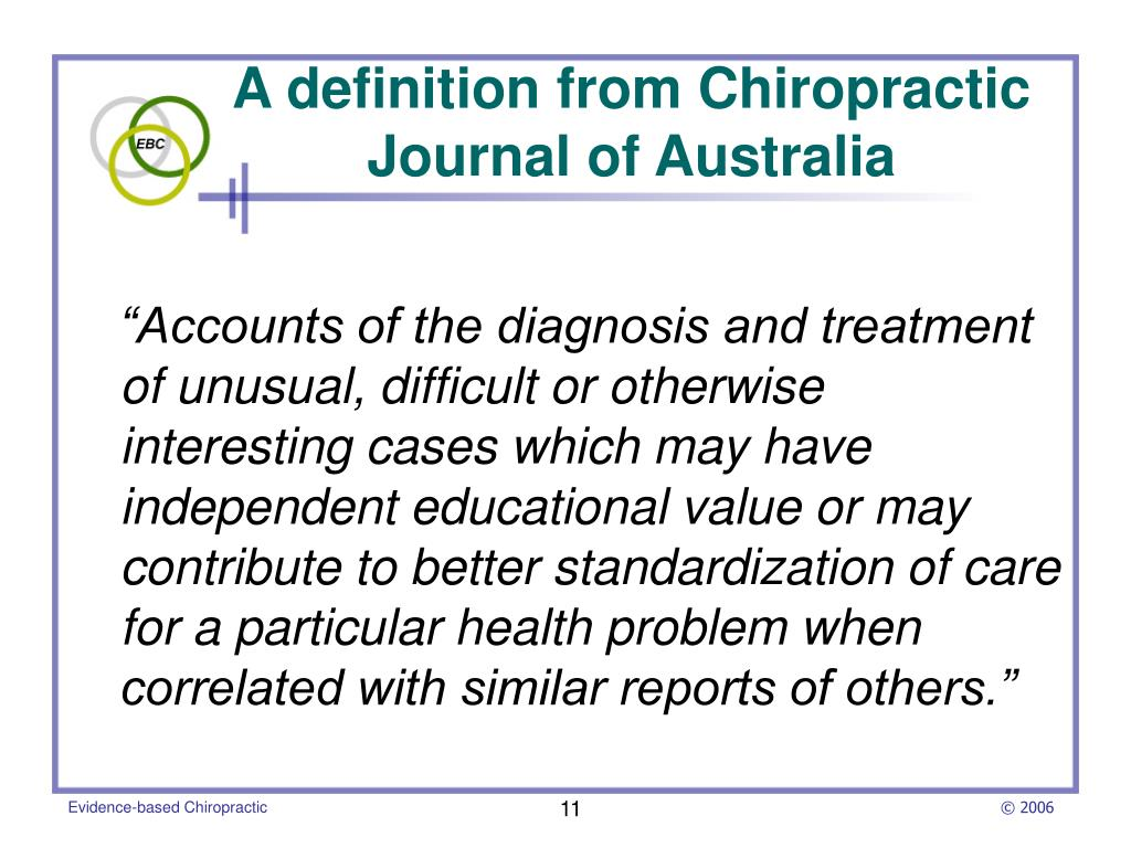"""""""Accounts of the diagnosis and treatment of unusual, difficult or otherwise interesting cases which may have independent educational value or may contribute to better standardization of care for a particular health problem when correlated with similar reports of others."""""""