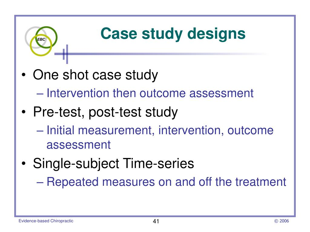 One shot case study