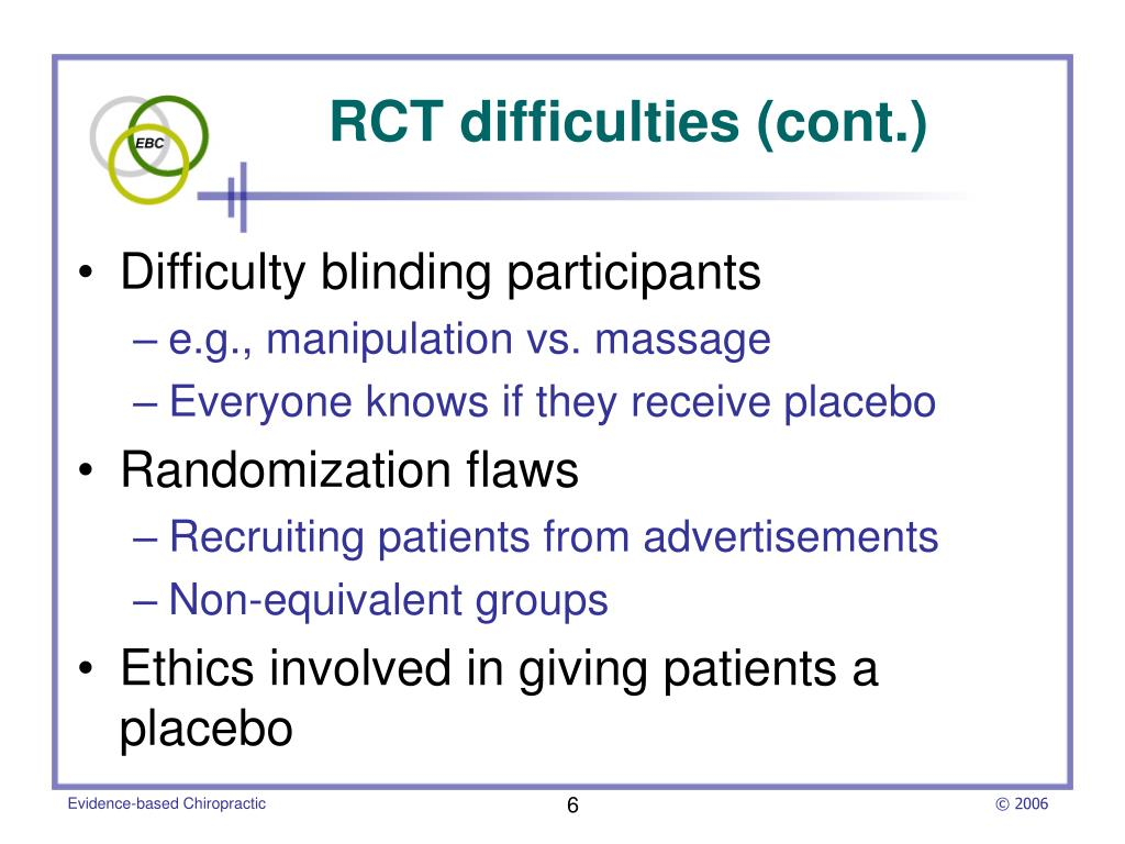 RCT difficulties (cont.)