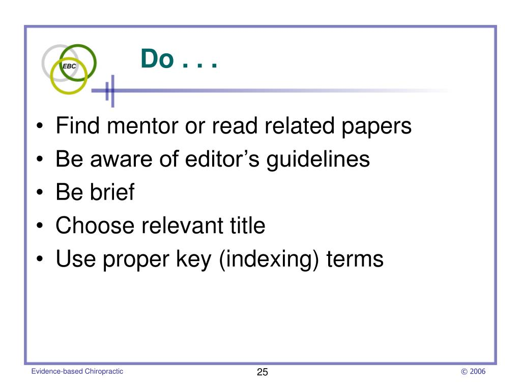 Find mentor or read related papers