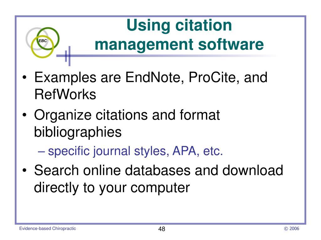 Using citation