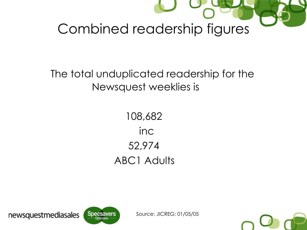 Combined readership figures