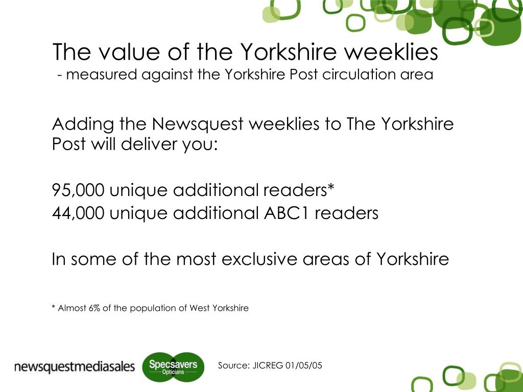 The value of the Yorkshire weeklies