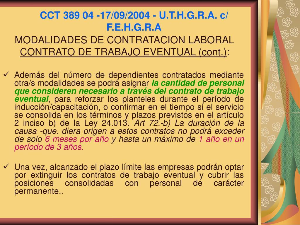 CCT 389 04 -17/09/2004 - U.T.H.G.R.A. c/ F.E.H.G.R.A