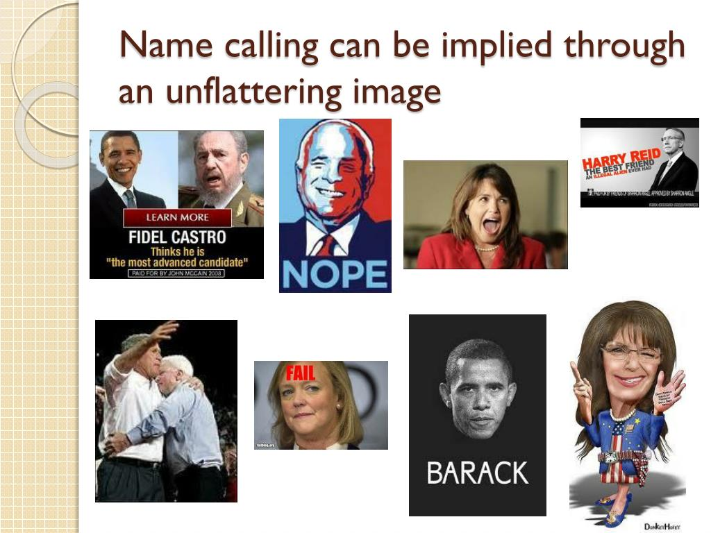 Name Calling: Persuasion Techniques PowerPoint Presentation