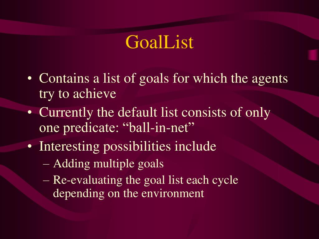 GoalList