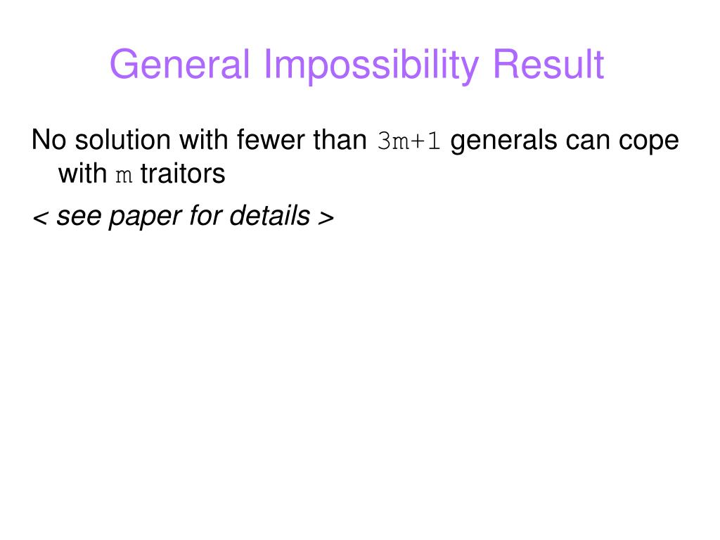 General Impossibility Result