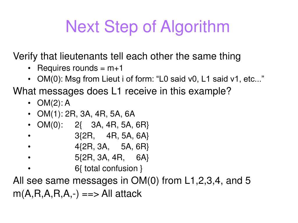 Next Step of Algorithm