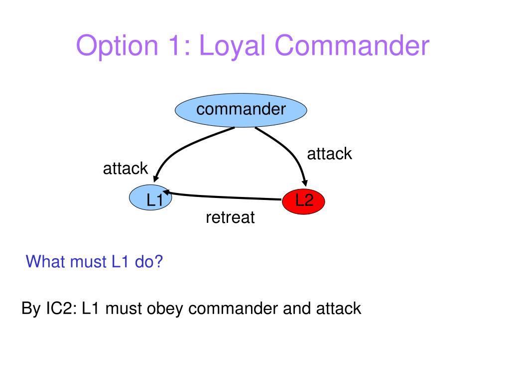 Option 1: Loyal Commander