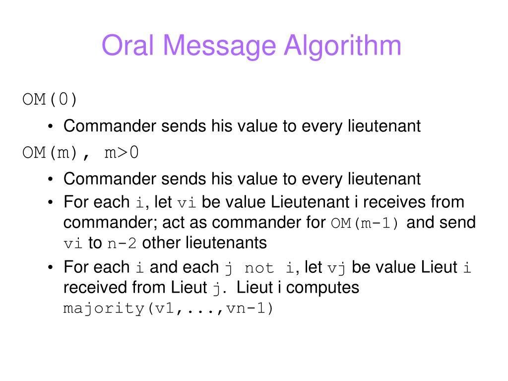 Oral Message Algorithm