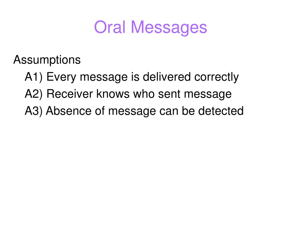 Oral Messages