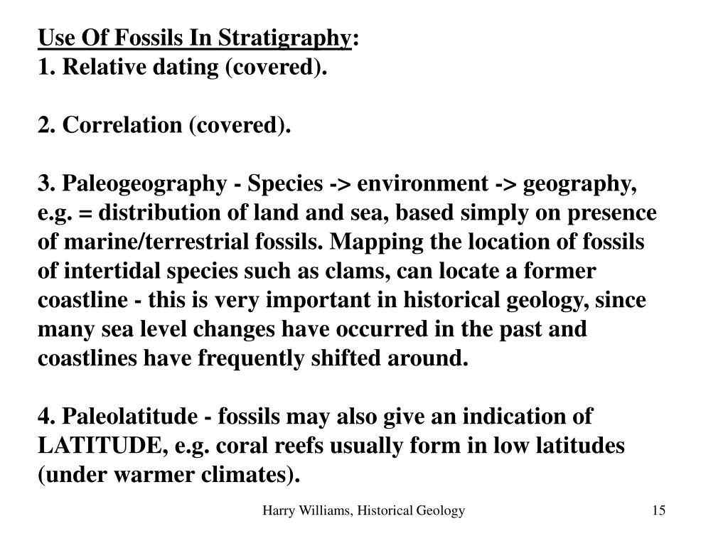 Use Of Fossils In Stratigraphy