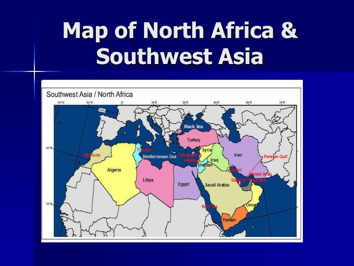 Map of north africa southwest asia