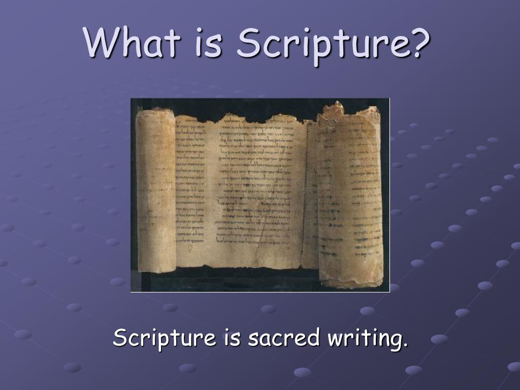What is Scripture?